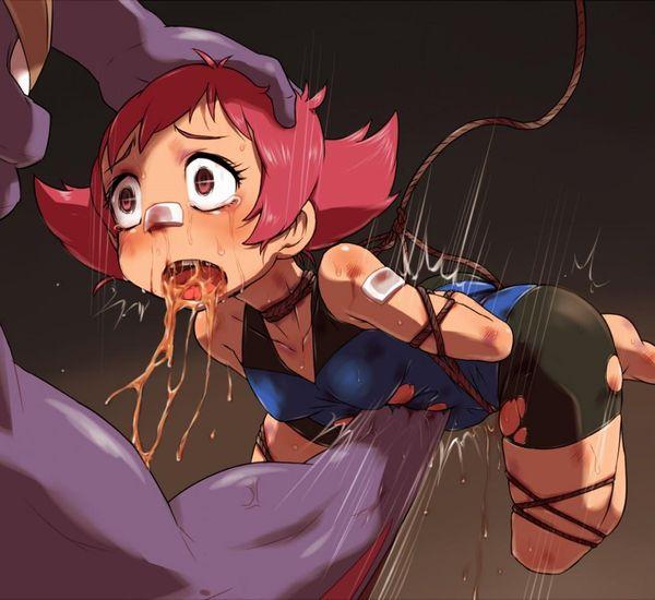 【リョナ注意】腹パンされてゲロとか胃液吐いてる女子の画像【8】