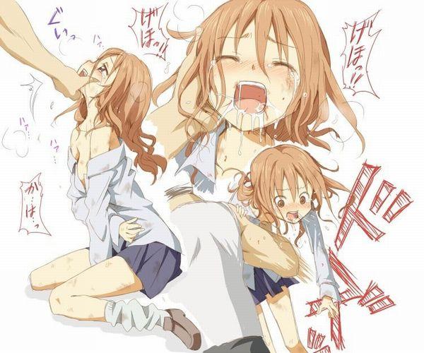 【リョナ注意】腹パンされてゲロとか胃液吐いてる女子の画像【19】