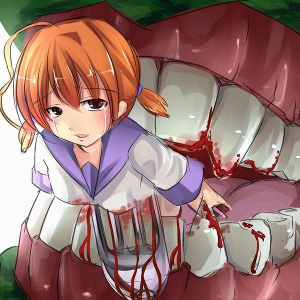 【閲覧注意】食べられちゃった女の子の二次画像【8】