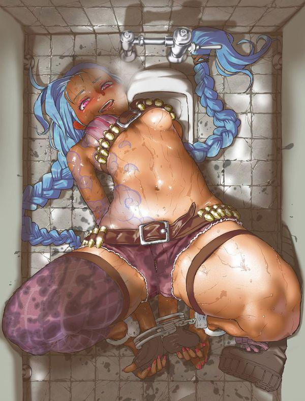 【肉便器】公衆便所で便器扱いされてる女子の二次エロ画像【47】