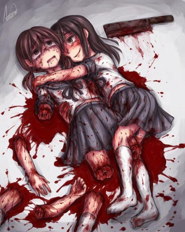 【達磨】完全に四肢切断されてしまった女子達の二次グロ・リョナ画像【4】