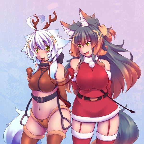 【クリスマスだから】トナカイコスプレしてる女の子の二次画像(サンタもあるよ)【33】