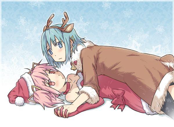 【クリスマスだから】トナカイコスプレしてる女の子の二次画像(サンタもあるよ)【43】