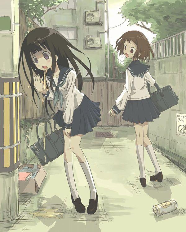 【ノロに注意】嘔吐してる女子達の二次画像【7】