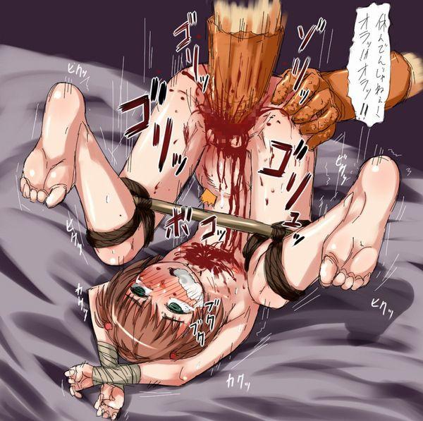 【閲覧注意】マンコに酷い事されてる性器破壊系の二次リョナ画像【24】