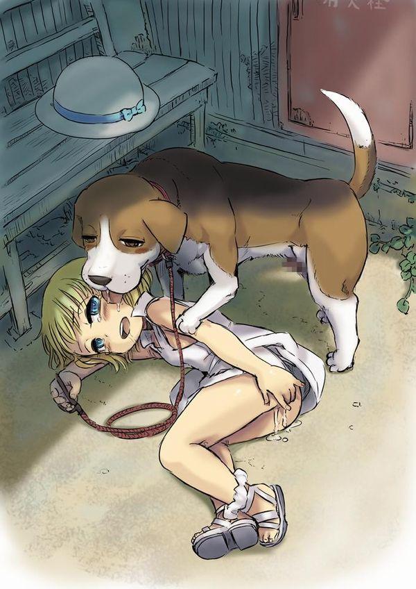 「犬好き(意味深)」な女の子達の二次エロ画像【4】
