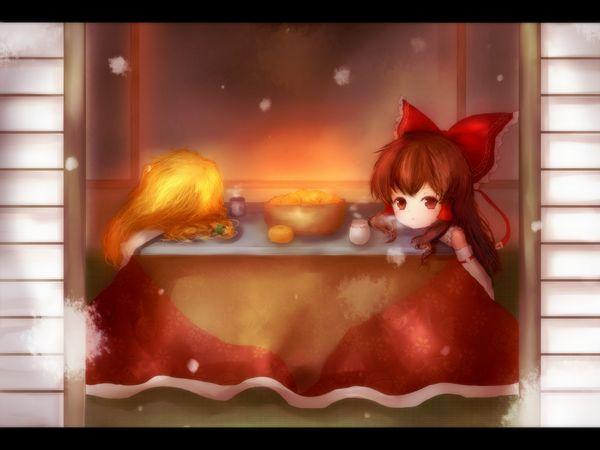 【大晦日だから】コタツでのんびりしてる女の子達の冬っぽい二次画像【11】