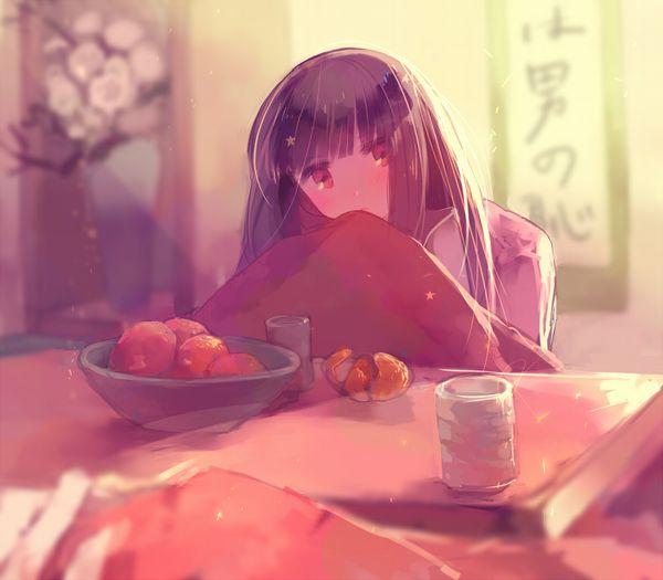 【大晦日だから】コタツでのんびりしてる女の子達の冬っぽい二次画像【12】