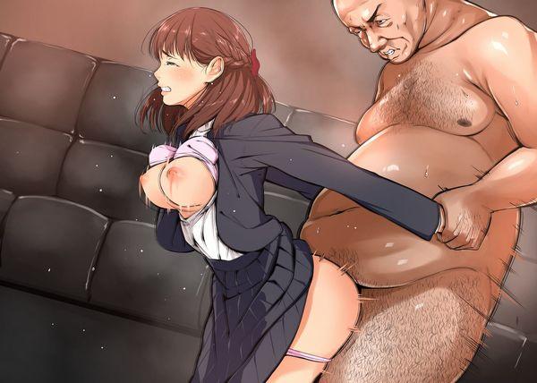 【臭そう】いかにも不潔そうな汚いおっさんに犯される二次エロ画像【24】