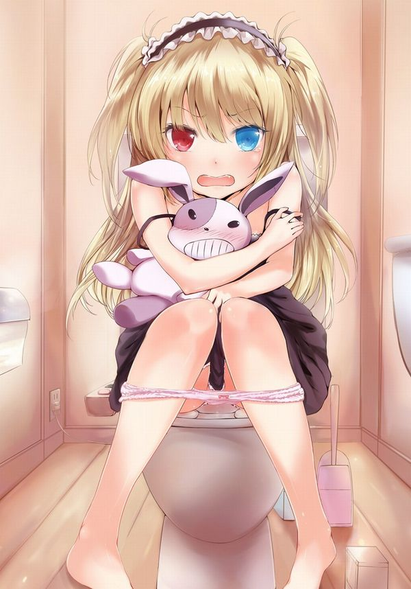 洋式トイレでオシッコしてる二次エロ画像【20】