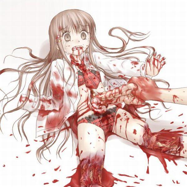 【閲覧注意】腸が超出てる二次リョナ・グロ画像【4】