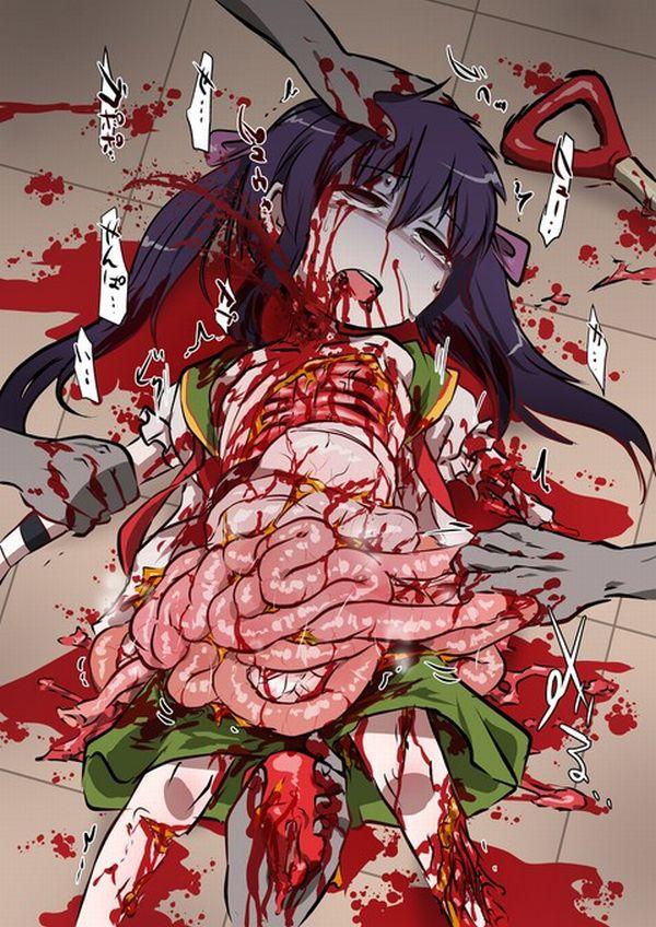 【閲覧注意】腸が超出てる二次リョナ・グロ画像【15】