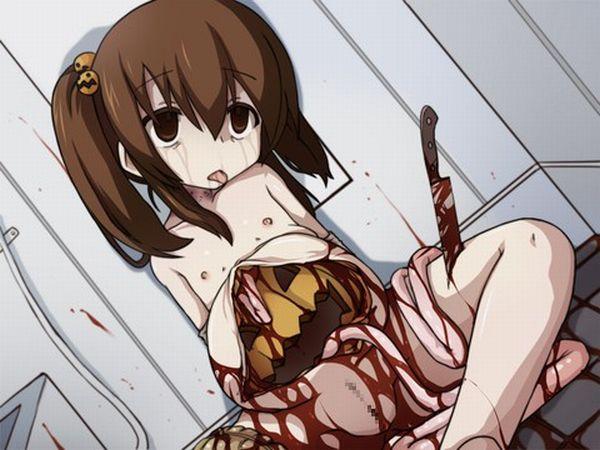 【閲覧注意】腸が超出てる二次リョナ・グロ画像【25】