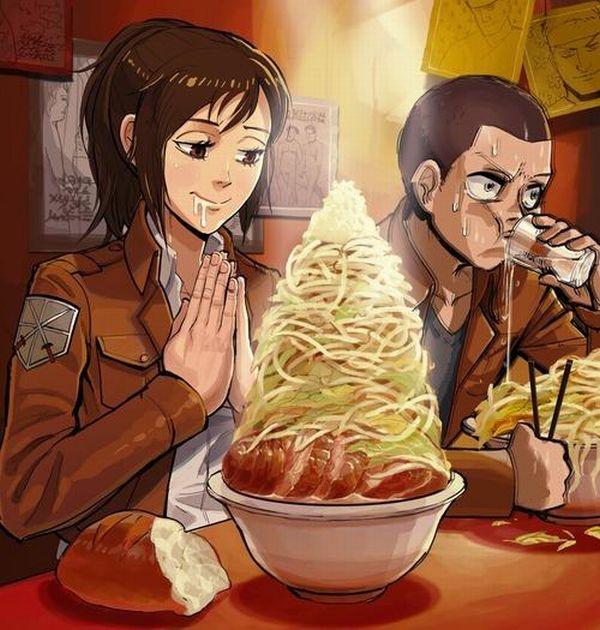 【二次】女の子がラーメン二郎食ってる画像【全マシマシ】【20】