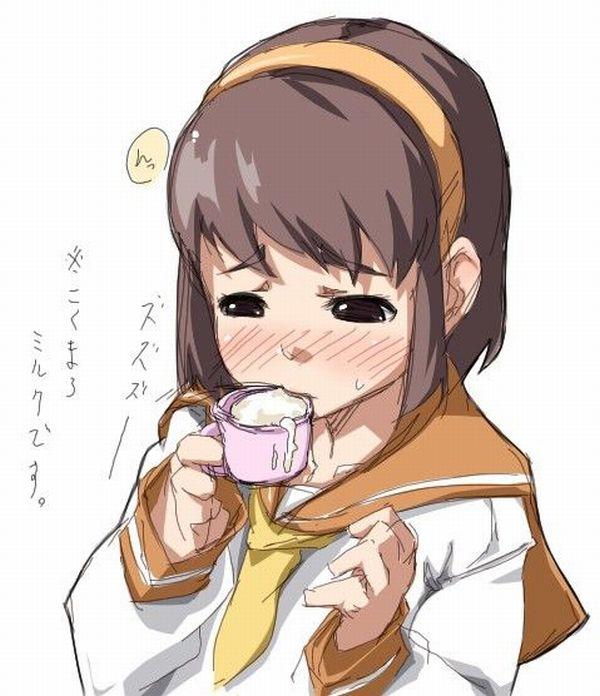【食ザー】スタバ感覚でザーメンを飲んでる女子達の二次エロ画像【8】