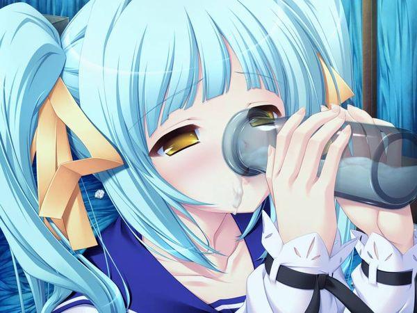 【食ザー】スタバ感覚でザーメンを飲んでる女子達の二次エロ画像【12】