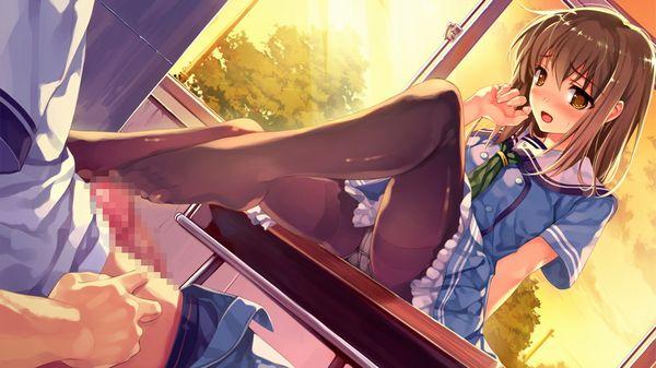 【匠の技】手コキよりも気持ち良さそうな足コキの二次エロ画像【10】