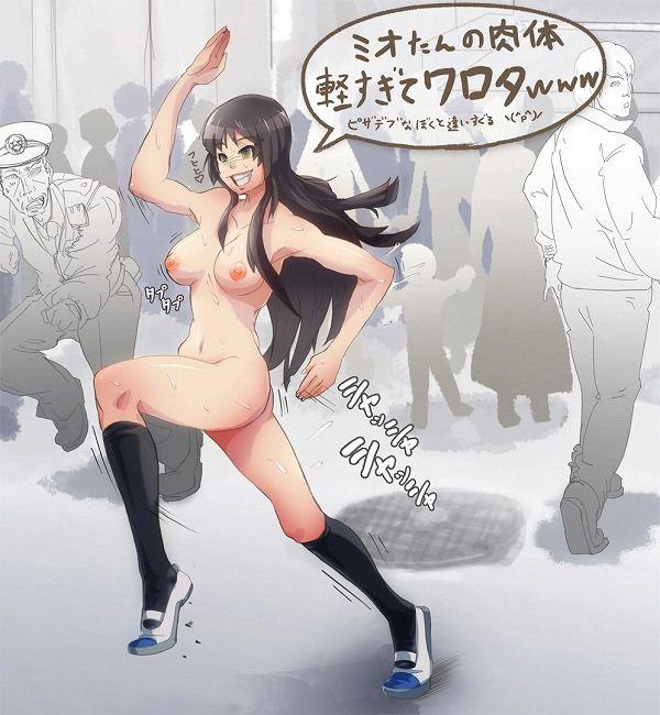 【服なんて要らねえよ、冬】野外で全裸!頭が少々壊れてる女の子の二次野外露出画像【11】