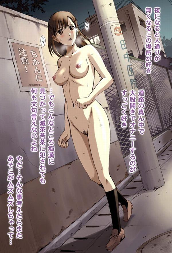 【服なんて要らねえよ、冬】野外で全裸!頭が少々壊れてる女の子の二次野外露出画像【13】