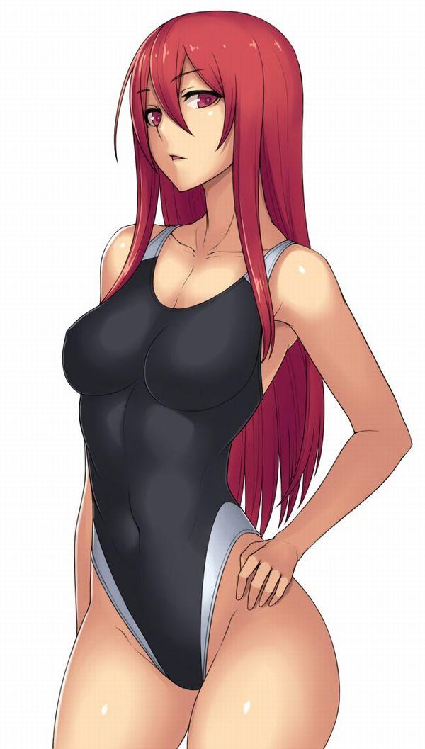 【二次】浮きでたオヘソのくぼみに興奮する競泳水着エロ画像!【38】