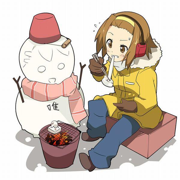 【冬の風物詩】雪だるま作ってる女子達の二次画像【9】