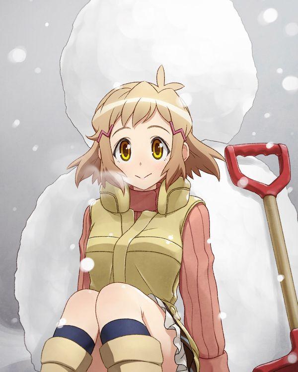 【冬の風物詩】雪だるま作ってる女子達の二次画像【23】