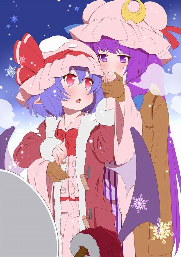 【冬の風物詩】雪だるま作ってる女子達の二次画像【29】