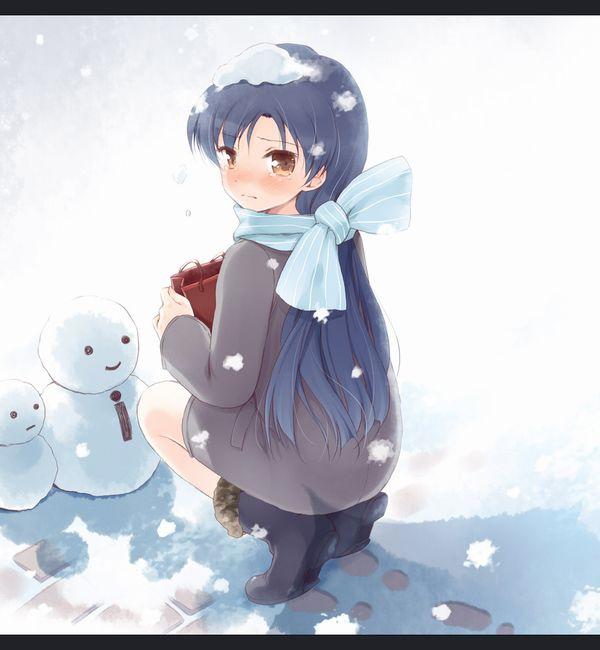 【冬の風物詩】雪だるま作ってる女子達の二次画像【35】