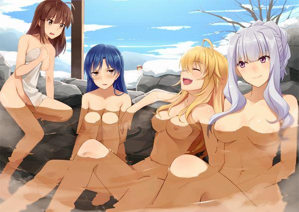 【眼福】温泉にて入浴中な女の子達の二次エロ画像【13】