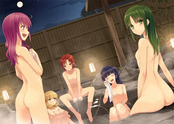【眼福】温泉にて入浴中な女の子達の二次エロ画像【16】