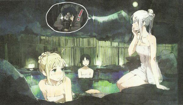 【眼福】温泉にて入浴中な女の子達の二次エロ画像【38】