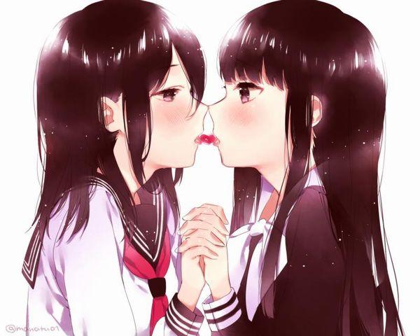 【百合】女の子同士でチッスしてる二次レズ画像【24】