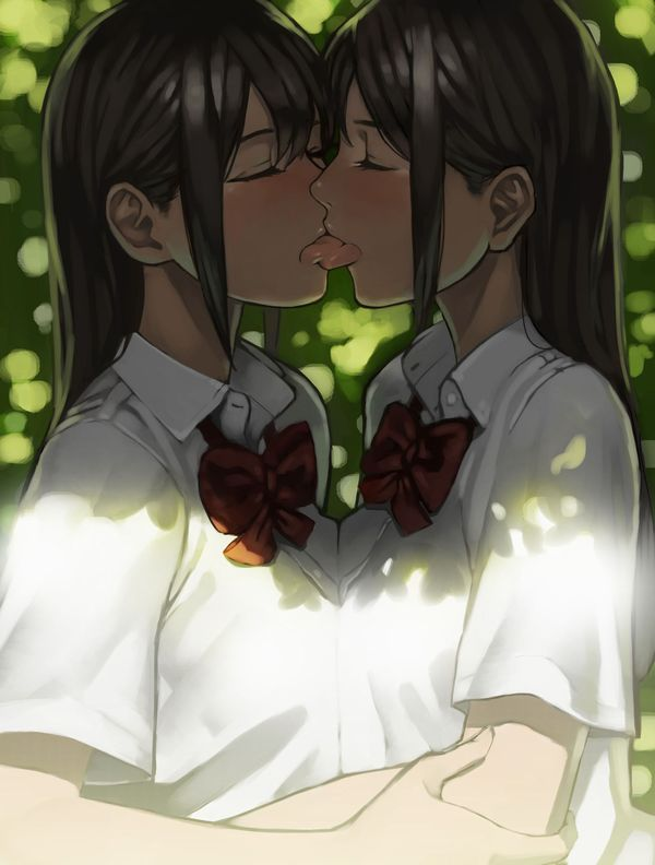 【百合】女の子同士でチッスしてる二次レズ画像【35】