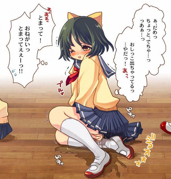 【生き恥】人前でオシッコお漏らしちゃった女子達の二次エロ画像【8】