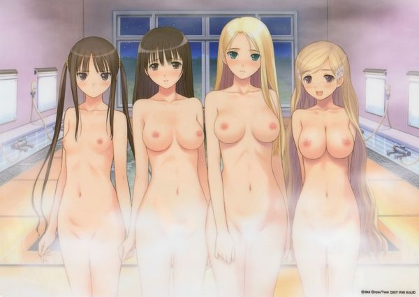 【NOT温泉】銭湯で汗を流す女子達の二次エロ画像【18】