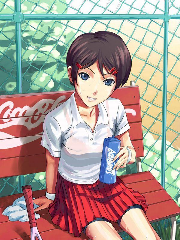【お約束】ペニスが思わず反応するテニス美少女の二次画像【21】