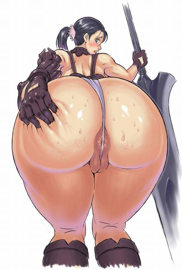ほぼ紐みたいなTバック履いてて肛門ハミ出てる二次エロ画像【37】