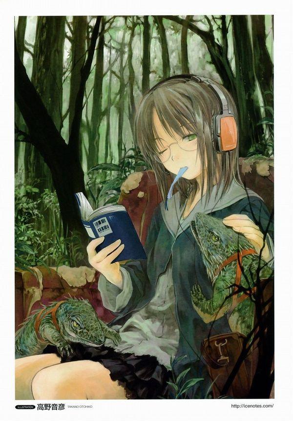 【非エロ】メガネの美少女が本を読んでる二次画像【28】