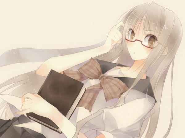 【非エロ】メガネの美少女が本を読んでる二次画像【30】