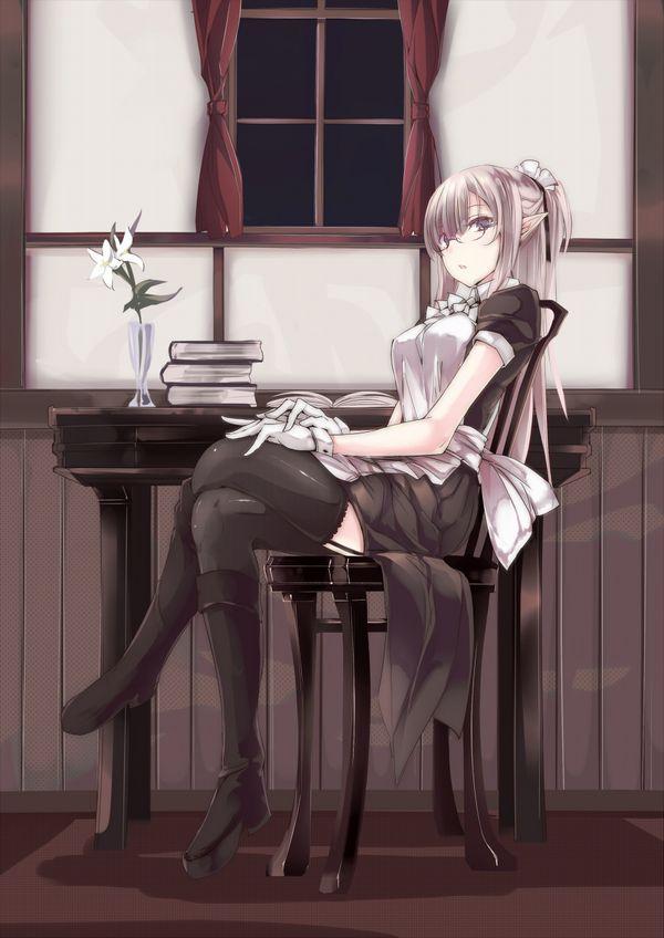 【非エロ】メガネの美少女が本を読んでる二次画像【35】