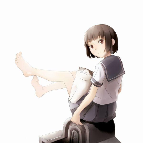 【二次】制服姿で裸足になってる女子高生達の微エロ画像【18】
