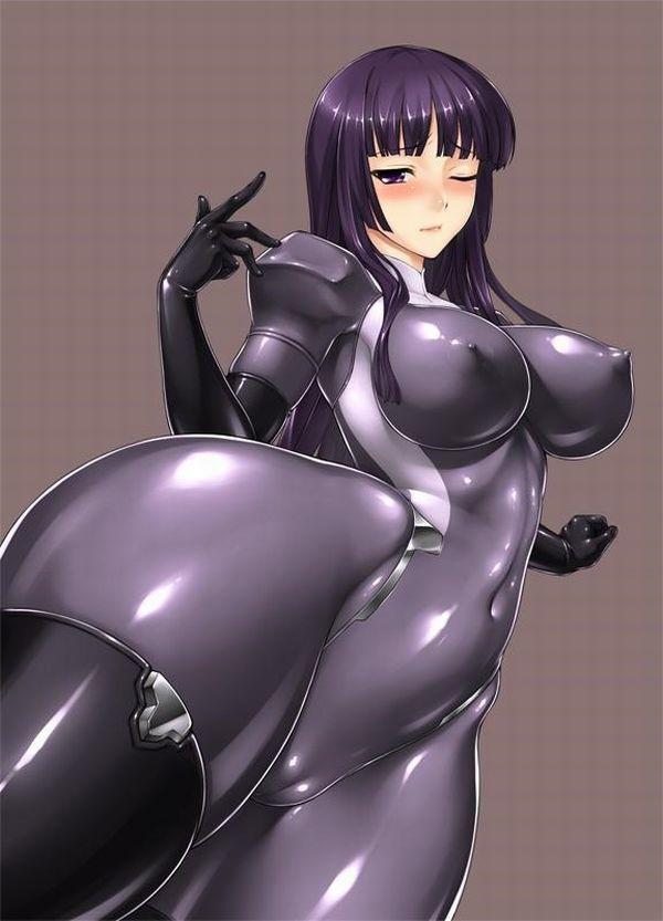 【二次】ラバースーツ着てムチムチボディーを強調している女子のエロ画像【6】