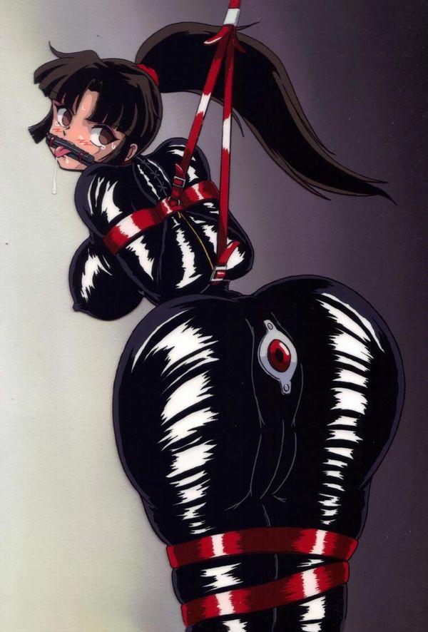 【二次】ラバースーツ着てムチムチボディーを強調している女子のエロ画像【27】