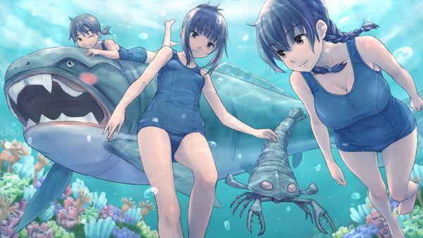 【アンバランス】巨乳の子がスク水着てるとおっぱいが目立つよね?って二次エロ画像【38】