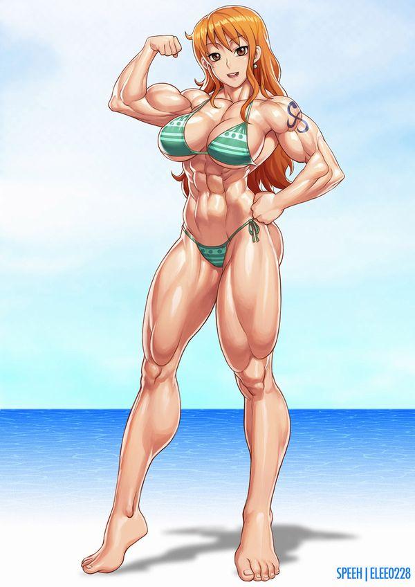 【強そう】タイマン張ったら余裕で負けそうな筋肉女子の二次エロ画像【11】