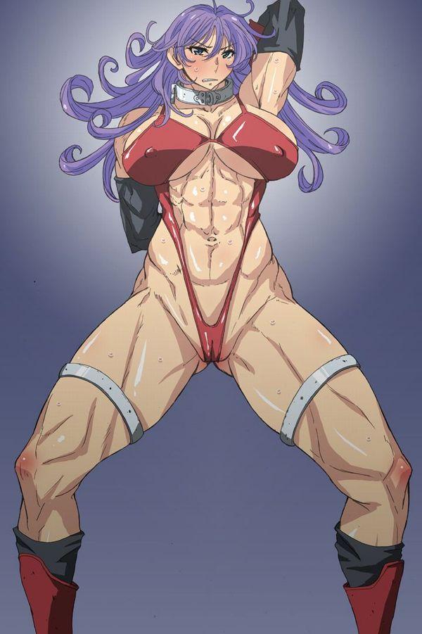 【強そう】タイマン張ったら余裕で負けそうな筋肉女子の二次エロ画像【16】