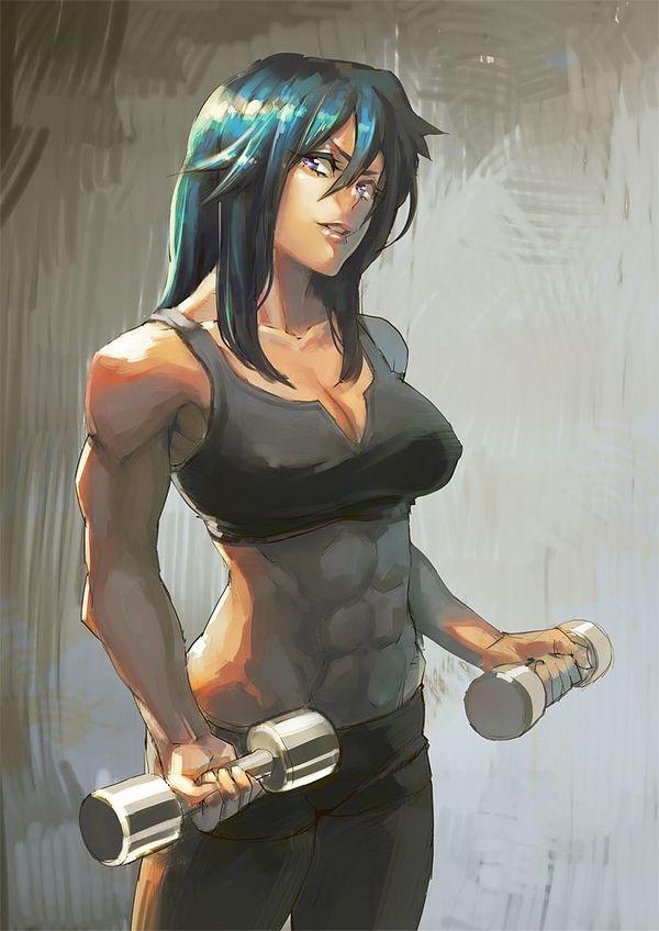 【強そう】タイマン張ったら余裕で負けそうな筋肉女子の二次エロ画像【31】