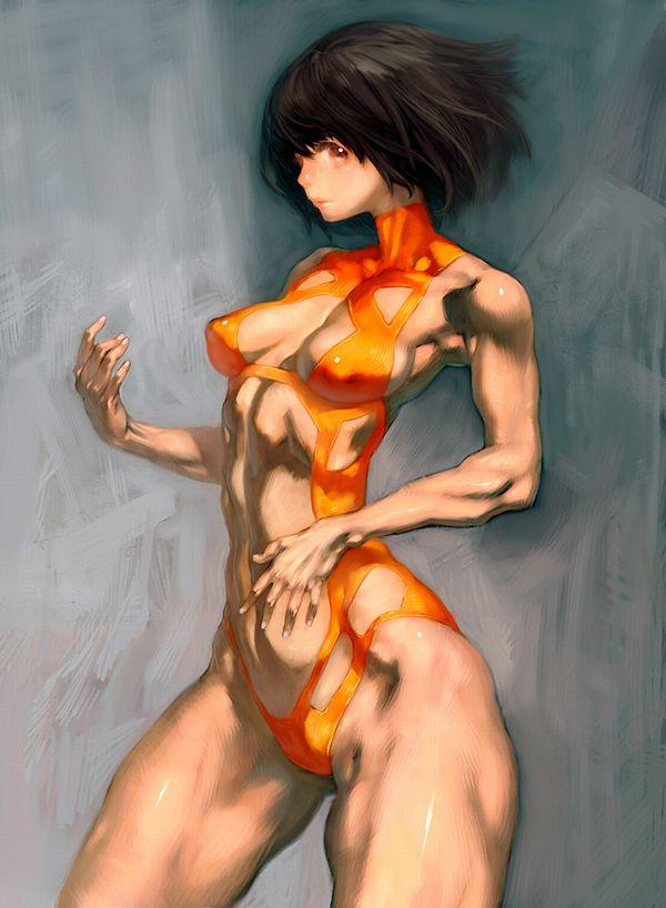 【強そう】タイマン張ったら余裕で負けそうな筋肉女子の二次エロ画像【40】