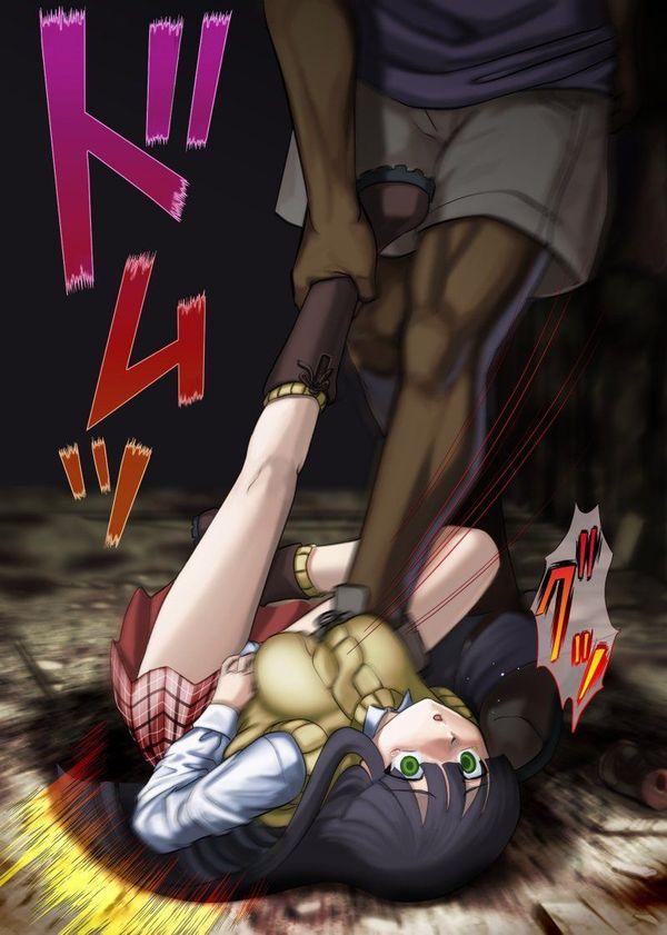 【暴力タマラン】女の子がブン殴られてる腹パン・殴打系の二次画像【10】