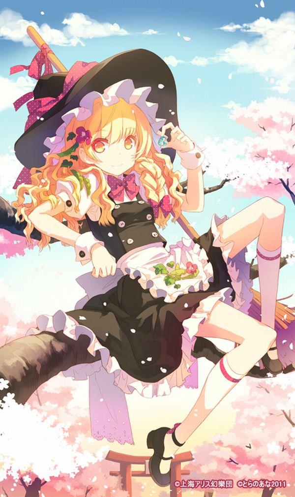 【もうすぐ春ですね】桜と美少女な二次画像